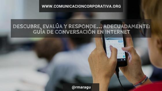 Descubre, evalúa y responde… adecuadamente guía de conversación en internet