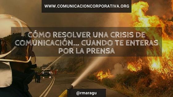 Qué puede hacer un dircom con una crisis inesperada